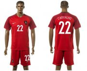 Wholesale Cheap Portugal #22 Carvalho Home Soccer Country Jersey