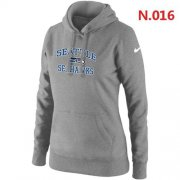 Wholesale Cheap Women's Nike Seattle Seahawks Heart & Soul Pullover Hoodie Light Grey