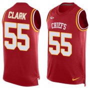 Wholesale Cheap Nike Chiefs #55 Frank Clark Red Team Color Men's Stitched NFL Limited Tank Top Jersey