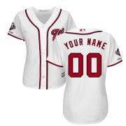 Wholesale Cheap Washington Nationals Majestic Women's 2019 World Series Champions Home Official Cool Base Custom Jersey White