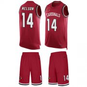 Wholesale Cheap Nike Cardinals #14 J.J. Nelson Red Team Color Men's Stitched NFL Limited Tank Top Suit Jersey
