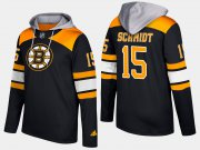 Wholesale Cheap Bruins #15 Milt Schmidt Black Name And Number Hoodie