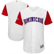 Wholesale Cheap Team Dominican Republic Blank White 2017 World MLB Classic Authentic Stitched MLB Jersey