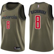 Wholesale Cheap Wizards #8 Rui Hachimura Green Salute to Service Basketball Swingman Jersey