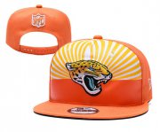 Wholesale Cheap Jaguars Team Logo Orange 2019 Draft Adjustable Hat YD
