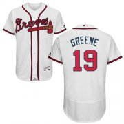 Wholesale Cheap Braves #19 Shane Greene White Flexbase Authentic Collection Stitched MLB Jersey