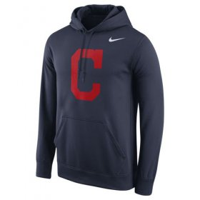 Wholesale Cheap Cleveland Indians Nike Logo Performance Pullover Navy MLB Hoodie