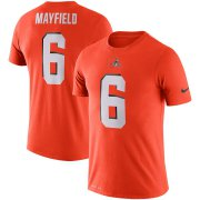 Wholesale Cheap Cleveland Browns #6 Baker Mayfield Nike Player Pride 3.0 Performance Name & Number T-Shirt Orange