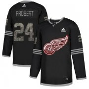 Wholesale Cheap Adidas Red Wings #24 Bob Probert Black Authentic Classic Stitched NHL Jersey