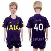 Wholesale Cheap Tottenham Hotspur #40 Glover Sec Away Kid Soccer Club Jersey