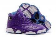 Wholesale Cheap Womens Air Jordan 13 Violet Purple/blue-white