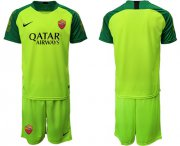 Wholesale Cheap Roma Blank Shiny Green Goalkeeper Soccer Club Jersey