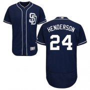 Wholesale Cheap Padres #24 Rickey Henderson Navy Blue Flexbase Authentic Collection Stitched MLB Jersey