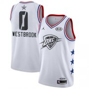 Wholesale Cheap Thunder #0 Russell Westbrook White Basketball Jordan Swingman 2019 All-Star Game Jersey