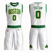 Wholesale Cheap Boston Celtics#0 Jayson Tatum White Nike NBA Men's City Edition Suit AuthenticJersey