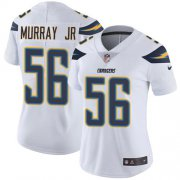 Wholesale Cheap Nike Chargers #56 Kenneth Murray Jr White Women's Stitched NFL Vapor Untouchable Limited Jersey