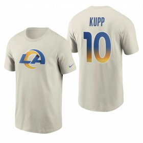 Wholesale Cheap Los Angeles Rams #10 Cooper Kupp Men\'s Cream 2020 Primary Logo NFL T-Shirt