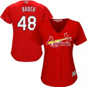 Wholesale Cheap Cardinals #48 Harrison Bader Red Alternate Women's Stitched MLB Jersey