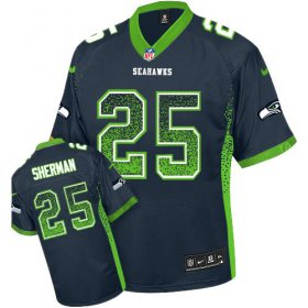 Wholesale Cheap Nike Seahawks #25 Richard Sherman Steel Blue Team Color Youth Stitched NFL Elite Drift Fashion Jersey