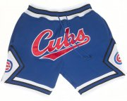 Wholesale Cheap Chicago Cubs Shorts (Royal) JUST DON By Mitchell & Ness