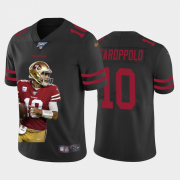 Cheap San Francisco 49ers #10 Jimmy Garoppolo Nike Team Hero Vapor Limited NFL 100 Jersey Black