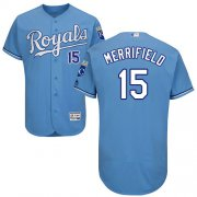 Wholesale Cheap Royals #15 Whit Merrifield Light Blue Flexbase Authentic Collection Stitched MLB Jersey