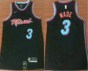Wholesale Cheap Men's Miami Heat #3 Dwyane Wade Black Nike NBA Swingman City Edition Jersey