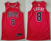 Wholesale Cheap Men's Chicago Bulls #8 Zach LaVine Red 2019 Nike Authentic Stitched NBA Jersey With The Sponsor Logo