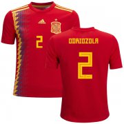 Wholesale Cheap Spain #2 Odriozola Red Home Kid Soccer Country Jersey
