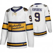 Wholesale Cheap Adidas Predators #9 Filip Forsberg Men's White 2020 Winter Classic Retro Authentic NHL Jersey