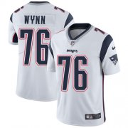 Wholesale Cheap Nike Patriots #76 Isaiah Wynn White Men's Stitched NFL Vapor Untouchable Limited Jersey
