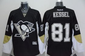 Wholesale Penguins #81 Phil Kessel Black Home Stitched NHL Jersey