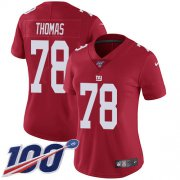Wholesale Cheap Nike Giants #78 Andrew Thomas Red Alternate Women's Stitched NFL 100th Season Vapor Untouchable Limited Jersey