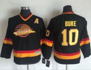 Wholesale Cheap Canucks #10 Pavel Bure Black CCM Throwback Youth Stitched NHL Jersey