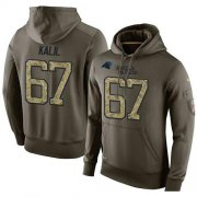 Wholesale Cheap NFL Men's Nike Carolina Panthers #67 Ryan Kalil Stitched Green Olive Salute To Service KO Performance Hoodie