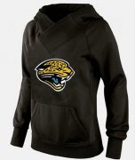 Wholesale Cheap Women's Jacksonville Jaguars Logo Pullover Hoodie Black-1