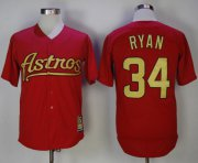 Wholesale Cheap Astros #34 Nolan Ryan Red 2002-2012 Turn Back The Clock Stitched MLB Jersey