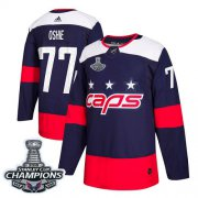 Wholesale Cheap Adidas Capitals #77 T.J. Oshie Navy Authentic 2018 Stadium Series Stanley Cup Final Champions Stitched NHL Jersey
