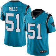 Wholesale Cheap Nike Panthers #51 Sam Mills Blue Men's Stitched NFL Limited Rush Jersey