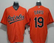Wholesale Cheap Orioles #19 Chris Davis Orange New Cool Base Stitched MLB Jersey