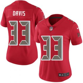 Wholesale Cheap Nike Buccaneers #33 Carlton Davis III Red Women\'s Stitched NFL Limited Rush Jersey