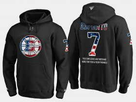 Wholesale Cheap Bruins #7 Phil Esposito NHL Banner Wave Usa Flag Black Hoodie