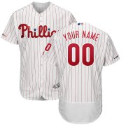 Wholesale Cheap Philadelphia Phillies Majestic Home Authentic Collection Flex Base Custom Jersey White