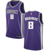 Wholesale Cheap Women's Sacramento Kings #8 Bogdan Bogdanovic Purple Basketball Swingman Icon Edition Jersey