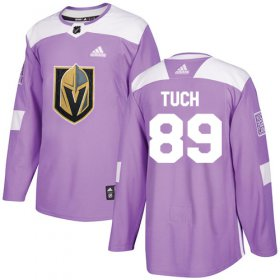 Wholesale Cheap Adidas Golden Knights #89 Alex Tuch Purple Authentic Fights Cancer Stitched Youth NHL Jersey
