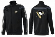 Wholesale NHL Pittsburgh Penguins Zip Jackets Black-3
