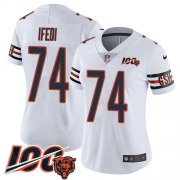 Wholesale Cheap Nike Bears #74 Germain Ifedi White Women's Stitched NFL 100th Season Vapor Untouchable Limited Jersey
