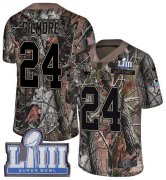 Wholesale Cheap Nike Patriots #24 Stephon Gilmore Camo Super Bowl LIII Bound Youth Stitched NFL Limited Rush Realtree Jersey