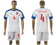 Wholesale Cheap Czech #4 Bartosak Away Soccer Country Jersey