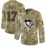 Wholesale Cheap Adidas Penguins #17 Bryan Rust Camo Authentic Stitched NHL Jersey